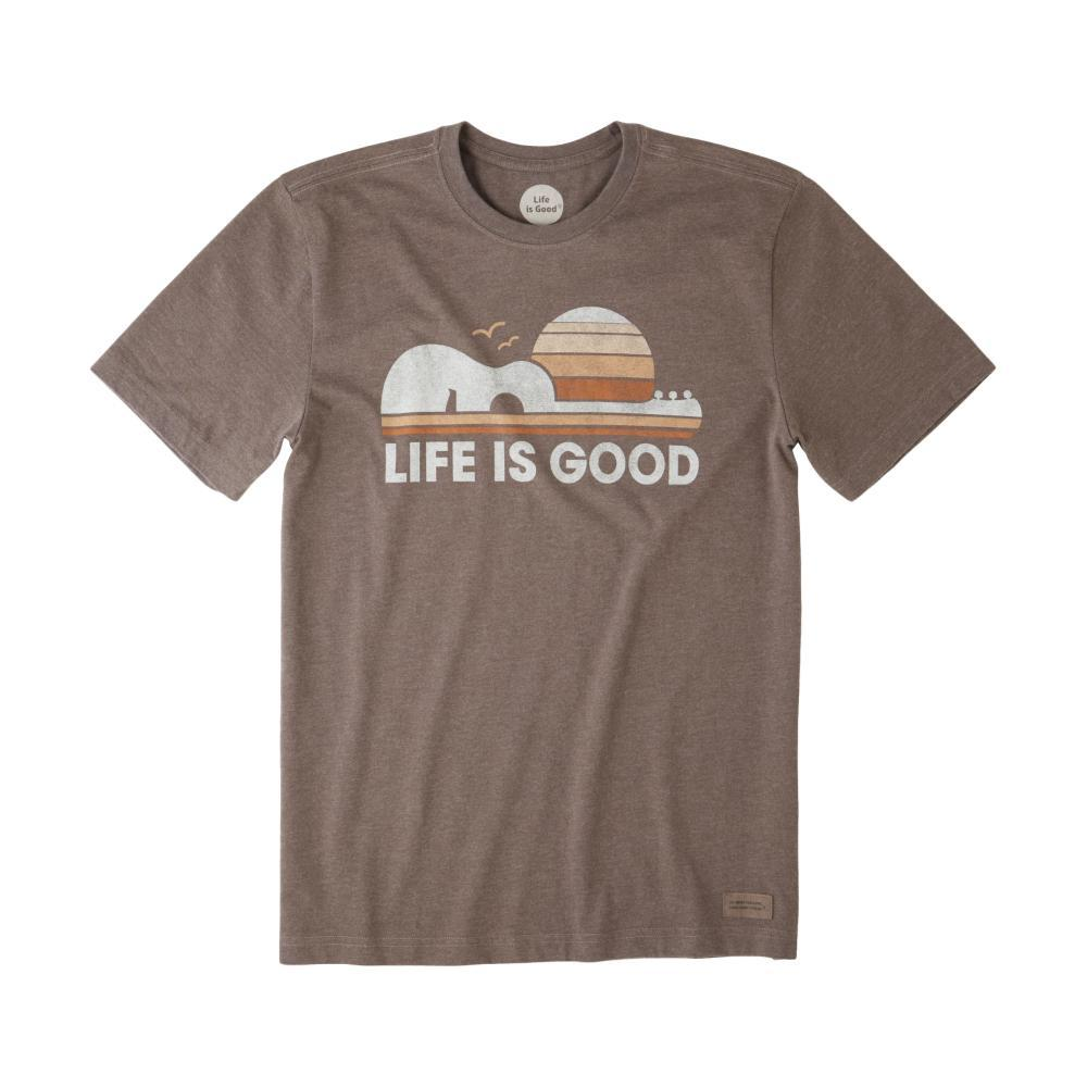 Life is Good Men's Guitar Sun Crusher Tee RICHBROWN