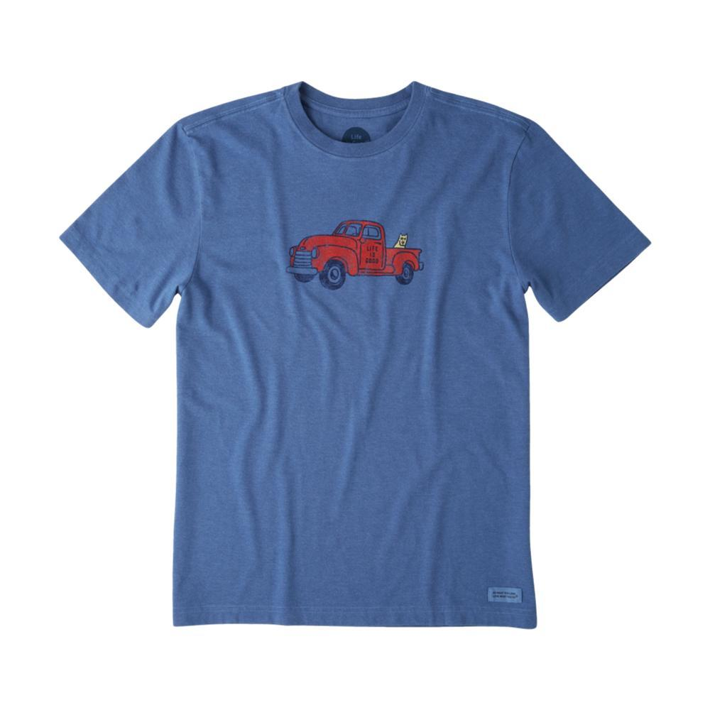 Life is Good Men's Classic Truck Crusher Tee VINTAGEBLUE