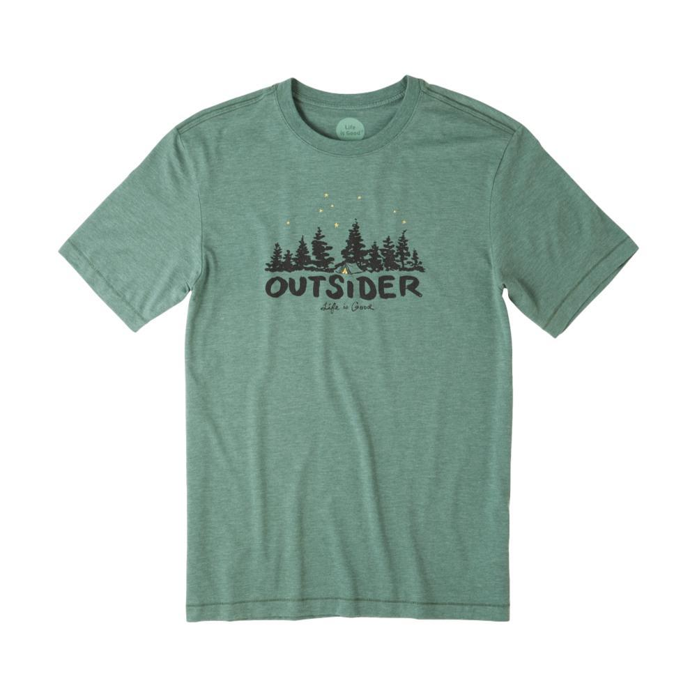 Life is Good Men's Outsider Cool Tee FORESTGREEN