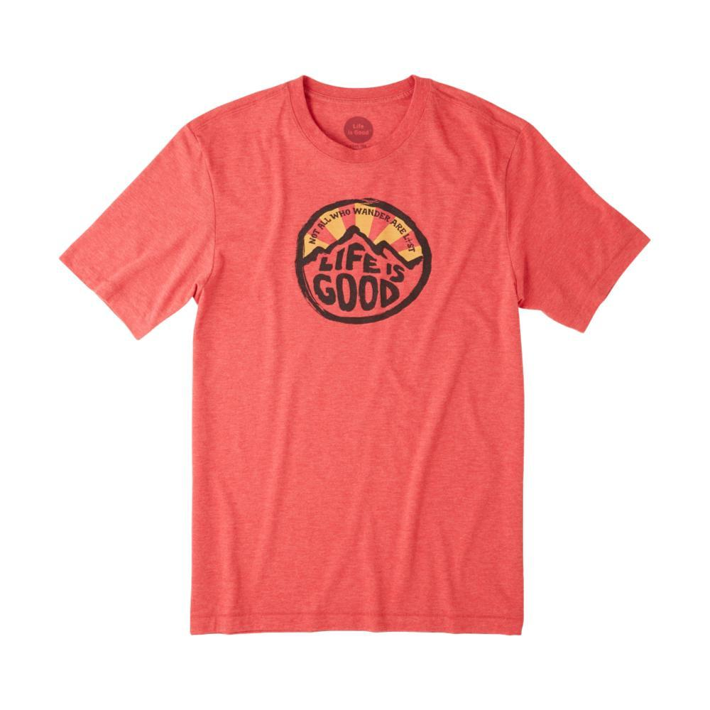 Life is Good Men's Wander Coin Cool Tee AMERICANRED