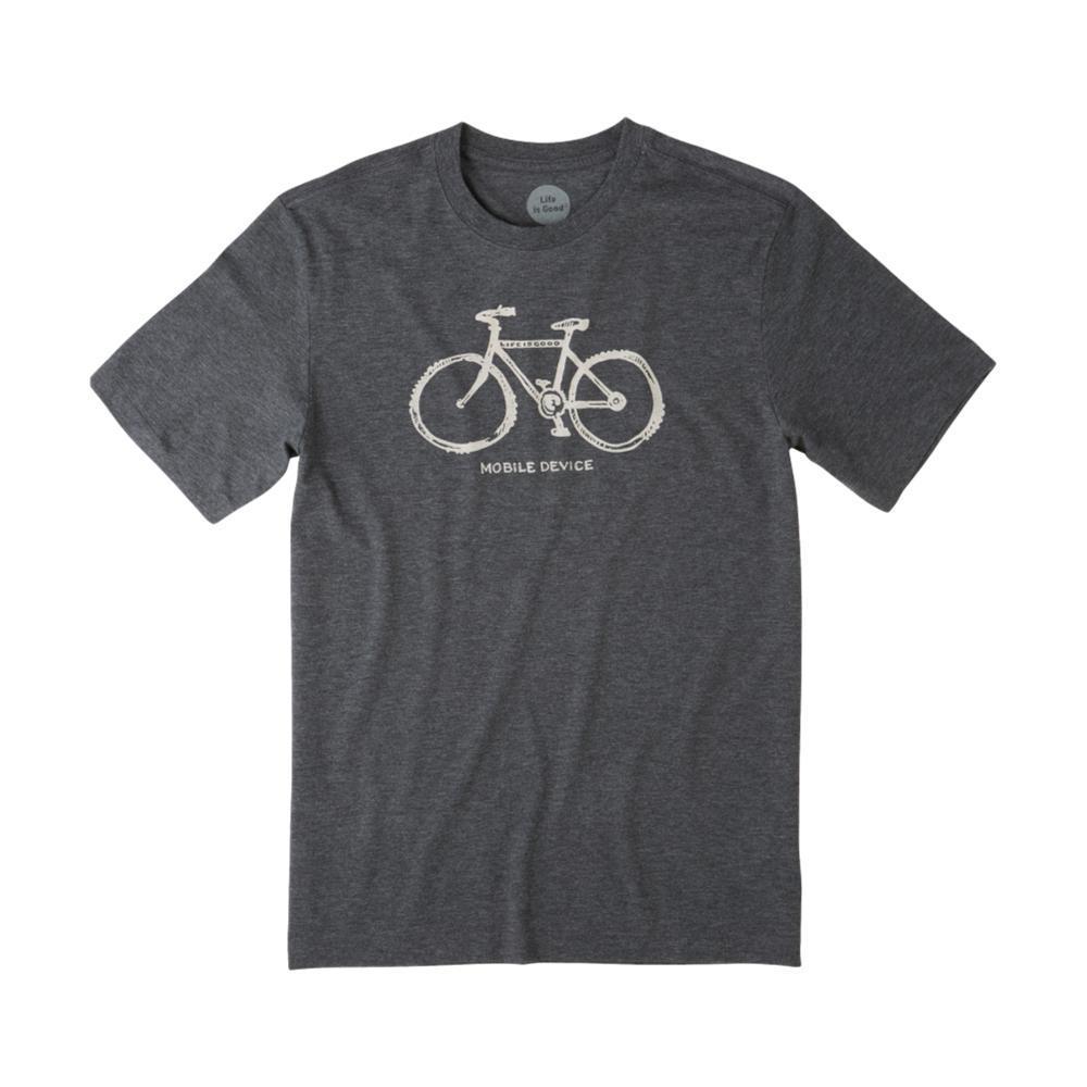 Life is Good Men's Mobile Device Bike Cool Tee NIGHTBLACK