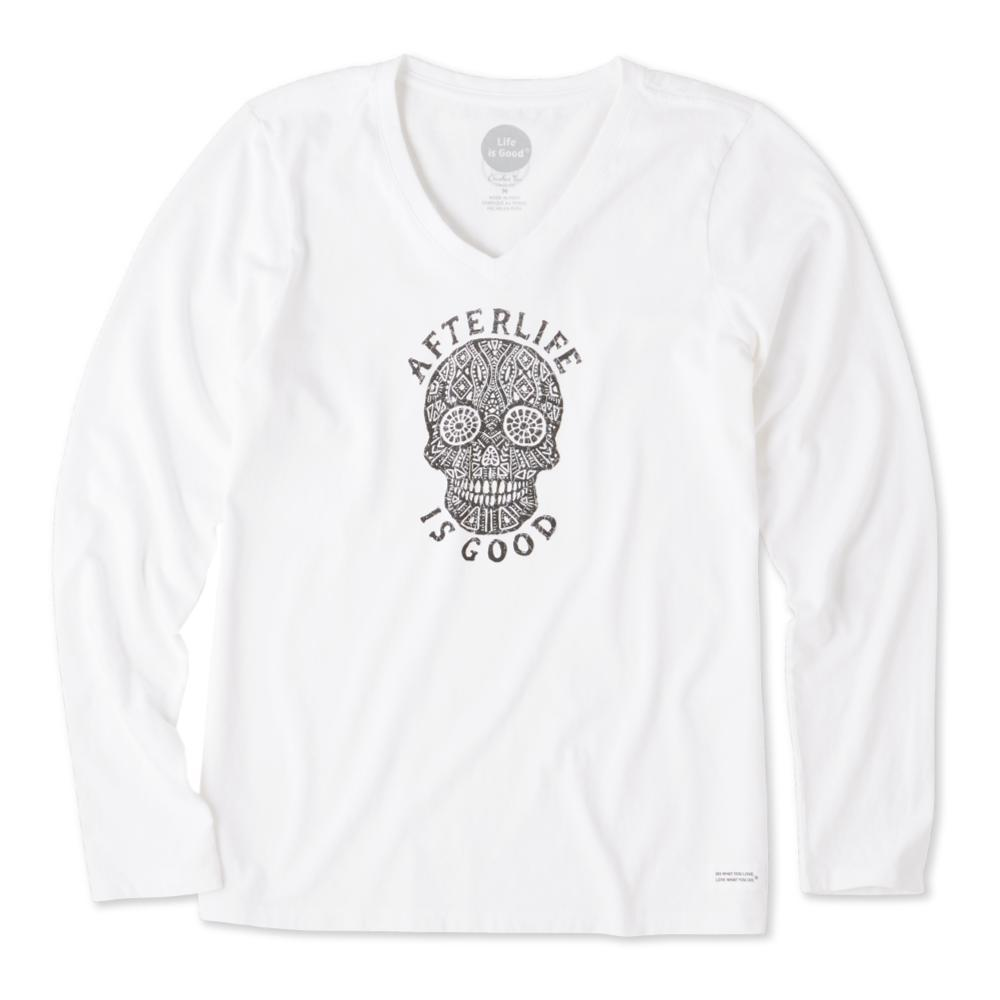 Life is Good Women's Afterlife Is Good Long Sleeve Crusher Vee CLOUDWHITE