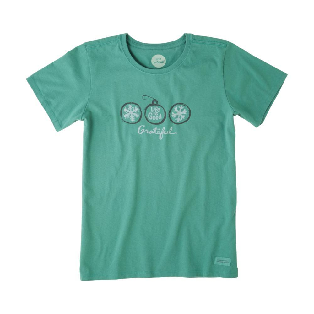 Life is Good Women's Grateful Ornaments Crusher Tee FORESTGREEN