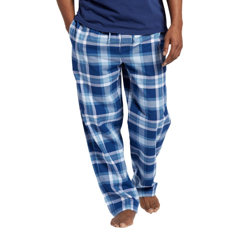 Life is Good Men's Sleepy Blue Plaid Classic Sleep Pants DARKESTBLUE