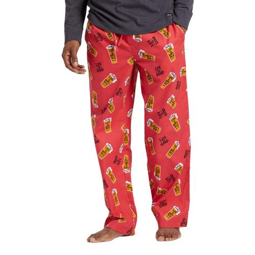 Life is Good Men's Peace, Love & Hoppiness Toss Classic Sleep Pants Redbeer