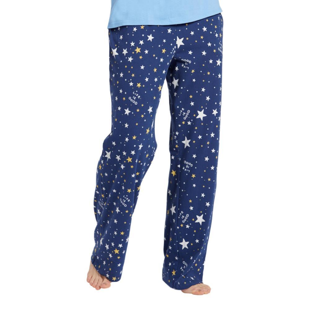 Life is Good Women's Starry Night Snuggle Up Sleep Pants DARKESTBLUE