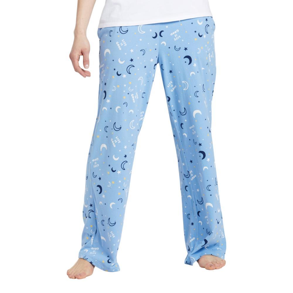 3ff7cf73d22 Selected Color Life is Good Women s Starry Moon Sky Snuggle Up Sleep Pants  POWBLUE