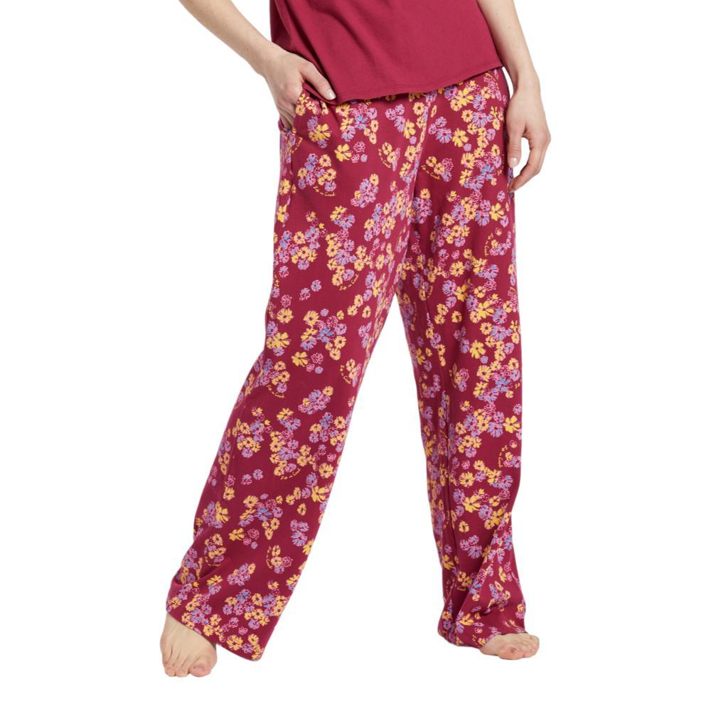 Life is Good Women's Sleepy Flower Toss Snuggle Up Sleep Pants WILDCHERRY