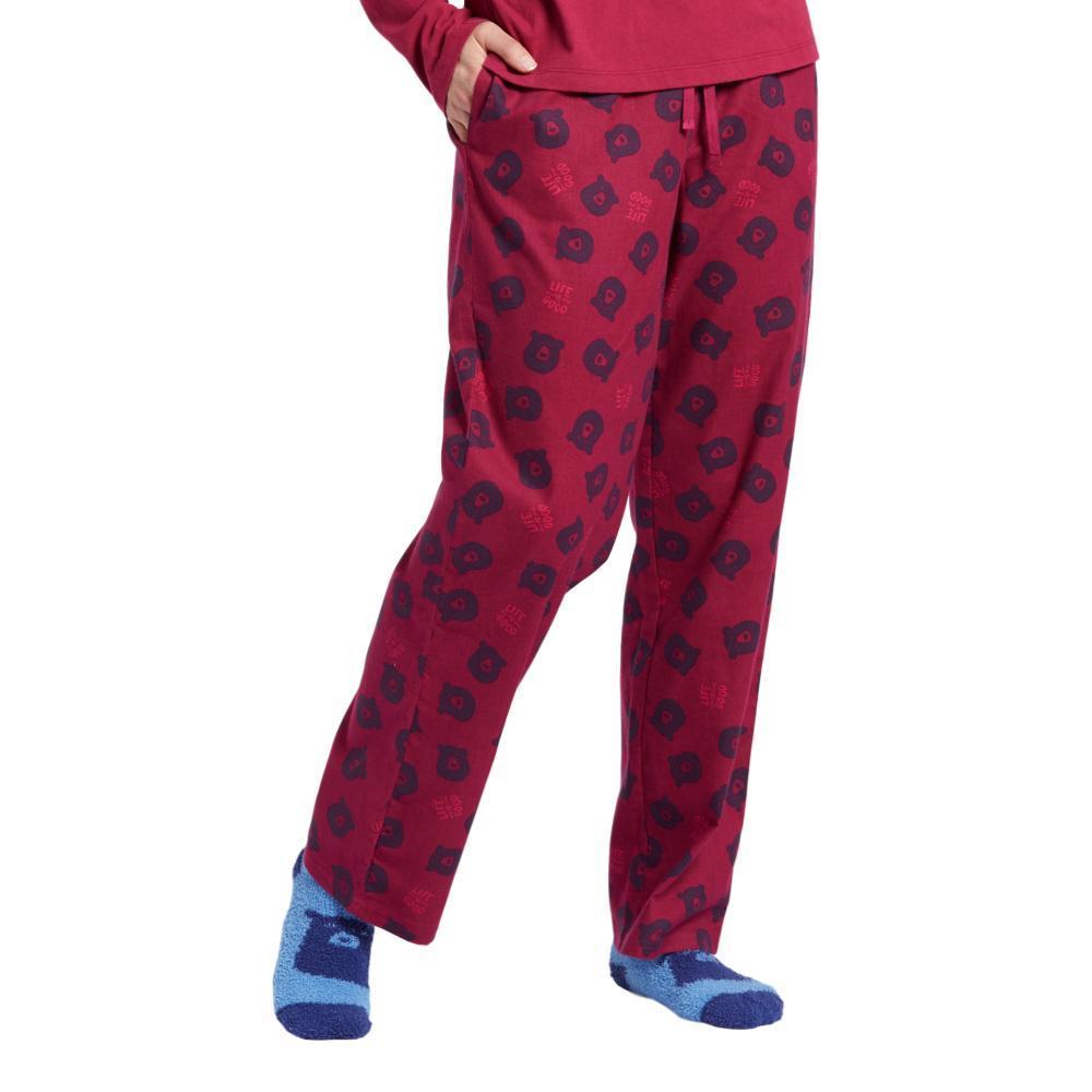 Life is Good Women's Bearly Awake Toss Classic Sleep Pants WILDBEAR