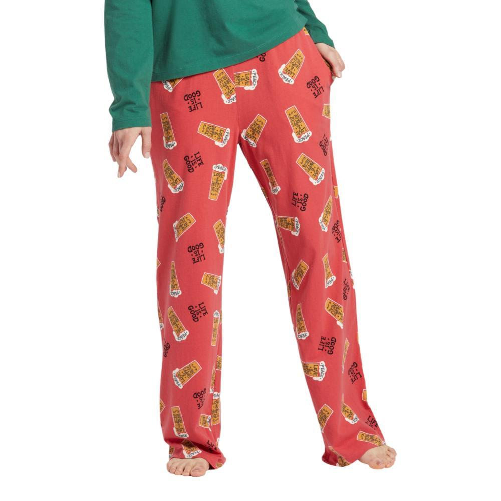 Life is Good Women's Peace, Love & Hoppiness Snuggle Up Sleep Pants AMERICARED