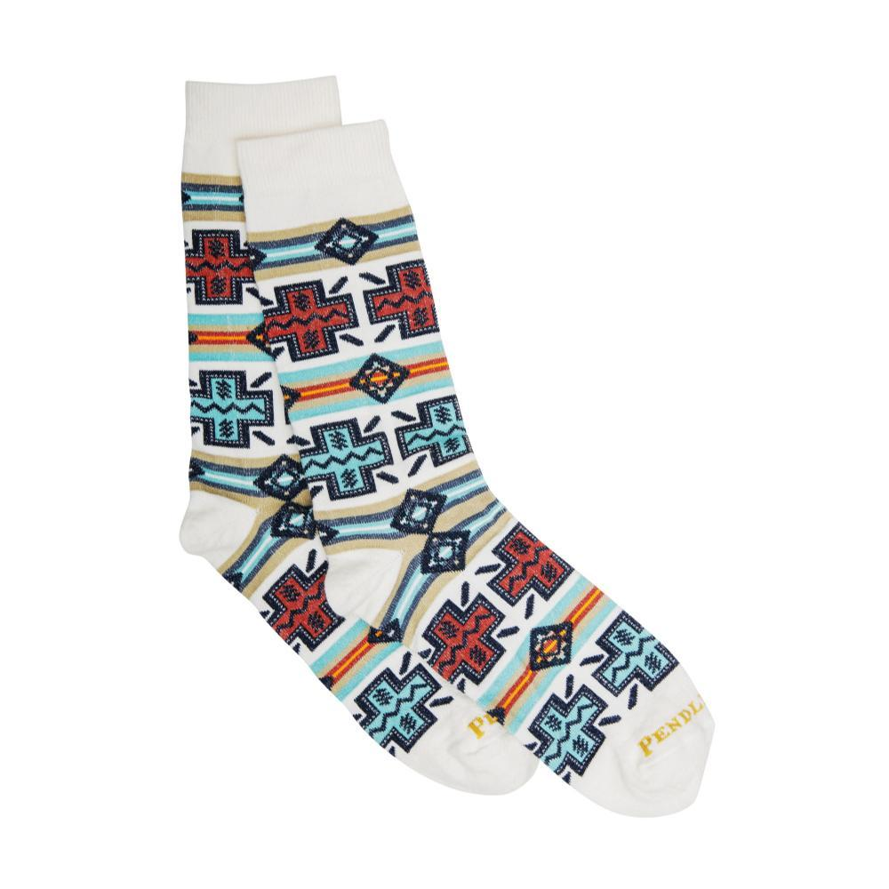 Pendleton Unisex Pueblo Cross Crew Socks NATURAL