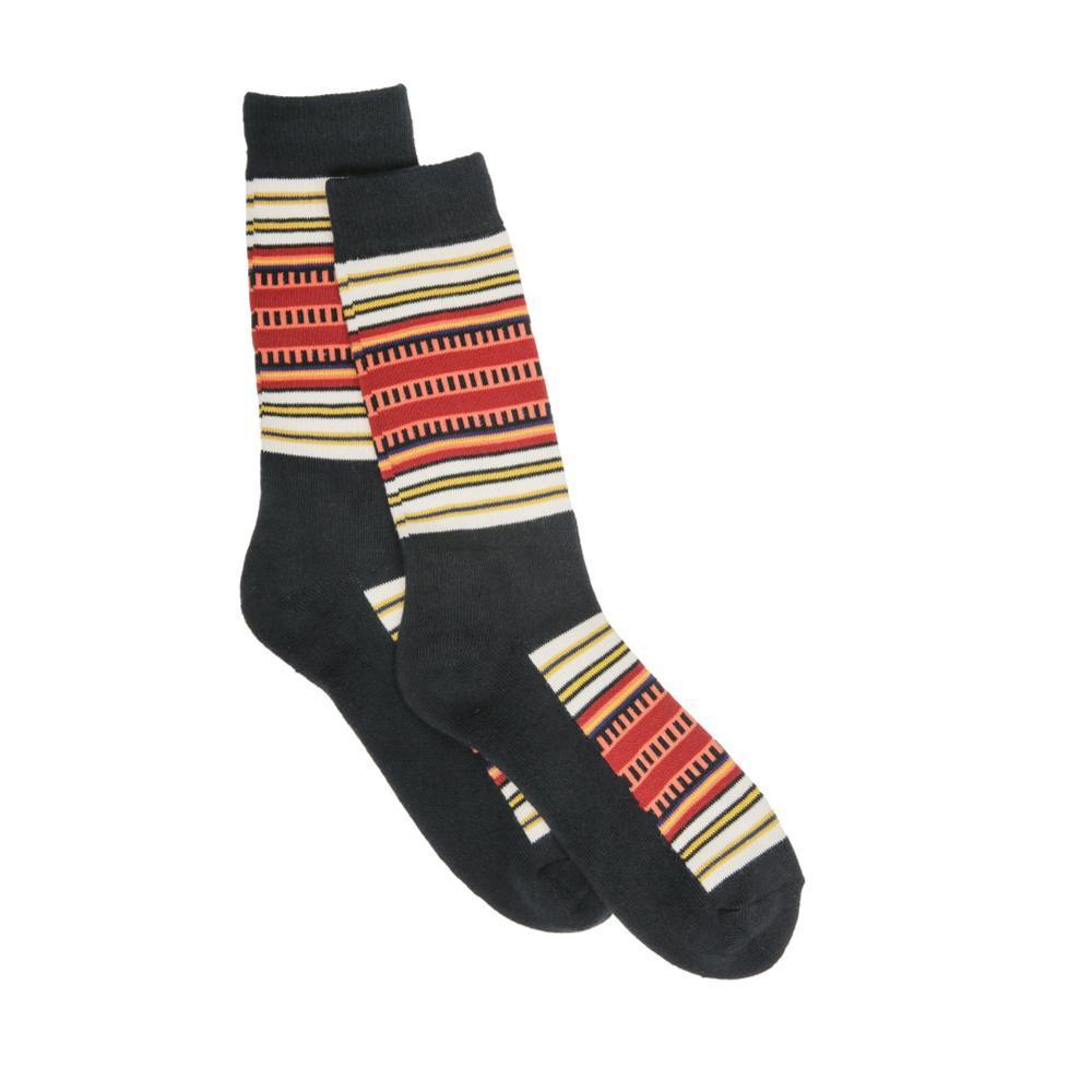 Pendleton Unisex National Park Stripe Crew Socks BLACK