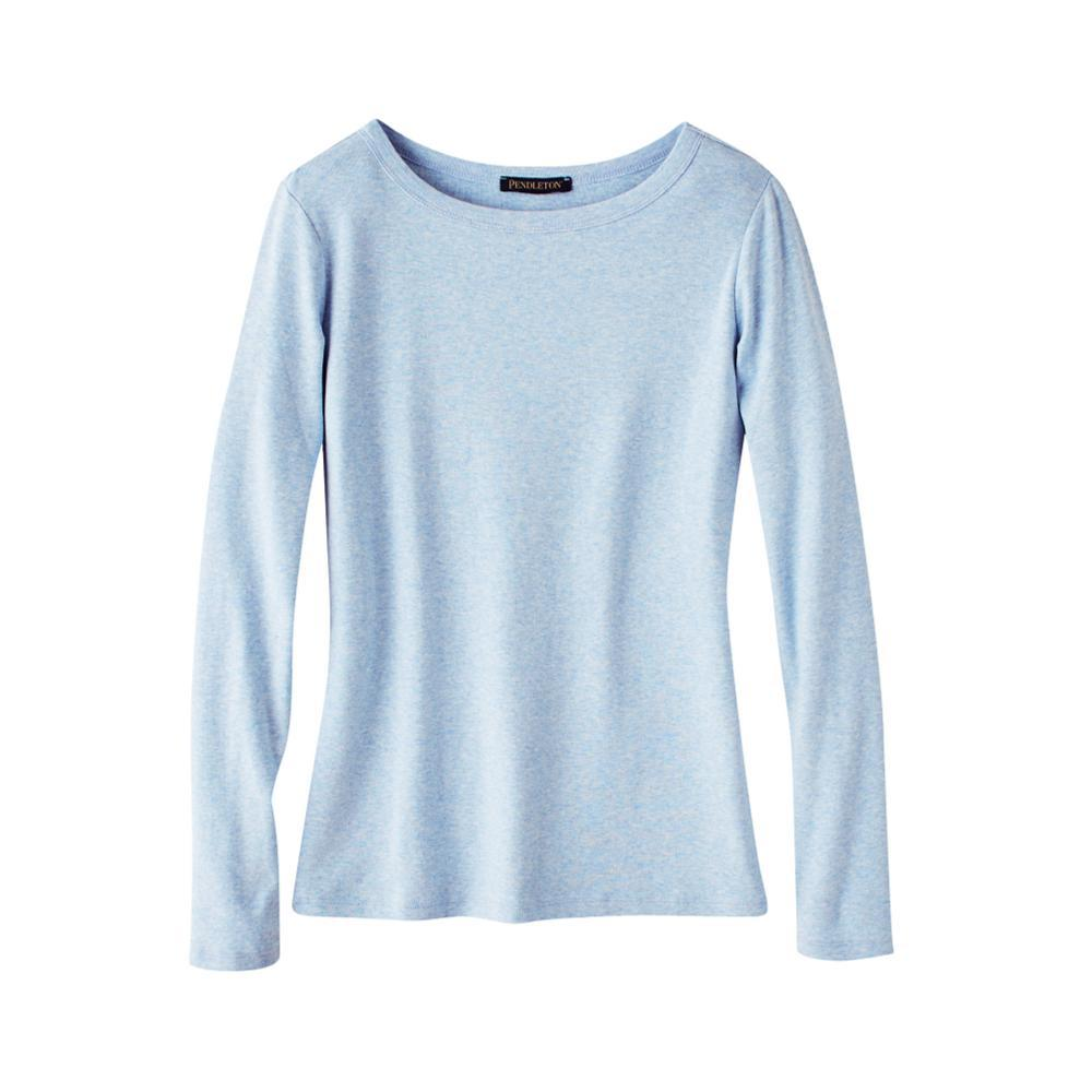 Pendleton Women's Long Sleeve Cotton Ribbed Crewneck Tee CELESTBLUE