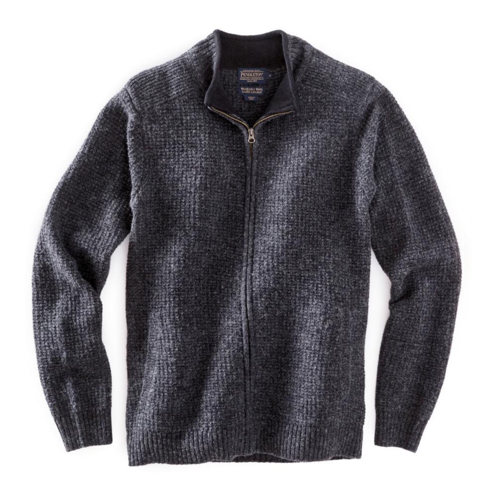 Pendleton Men's Shetland Full-Zip Cardigan BLKHTHR