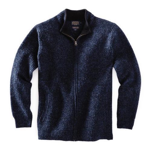 Pendleton Men's Shetland Full-Zip Cardigan Indigohthr
