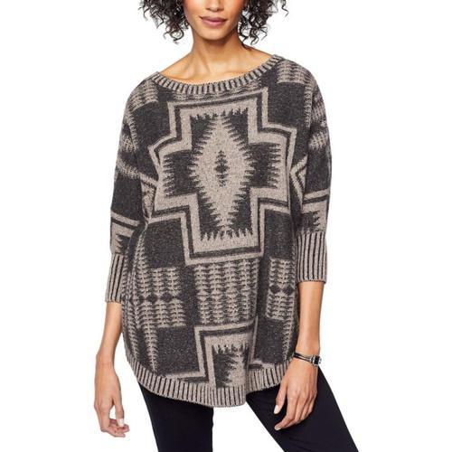 Pendleton Women's Harding Oversized Pullover Blkmulti
