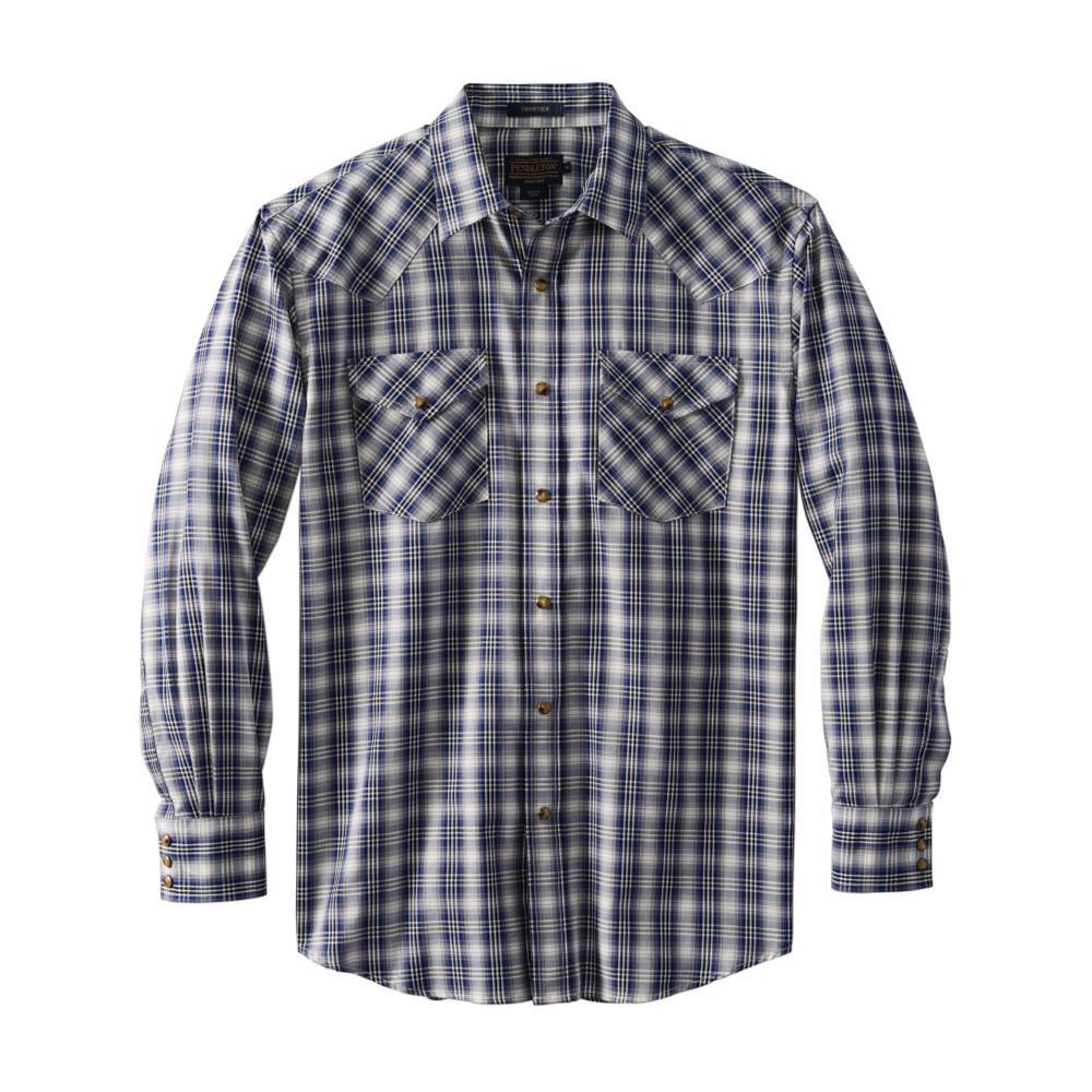 Pendleton Men's Herringbone Frontier Shirt BLUEBLK