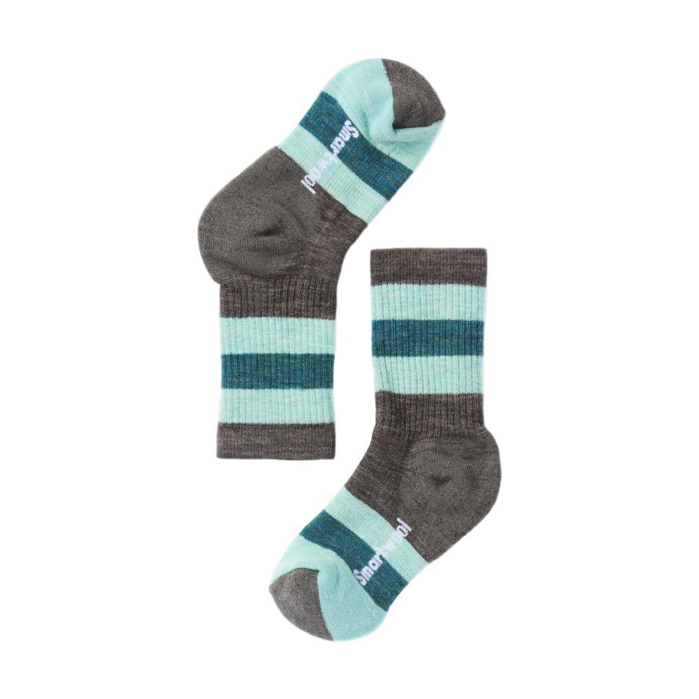 Smartwool Kids Striped Hike Medium Crew Socks TAUPEMINT_523