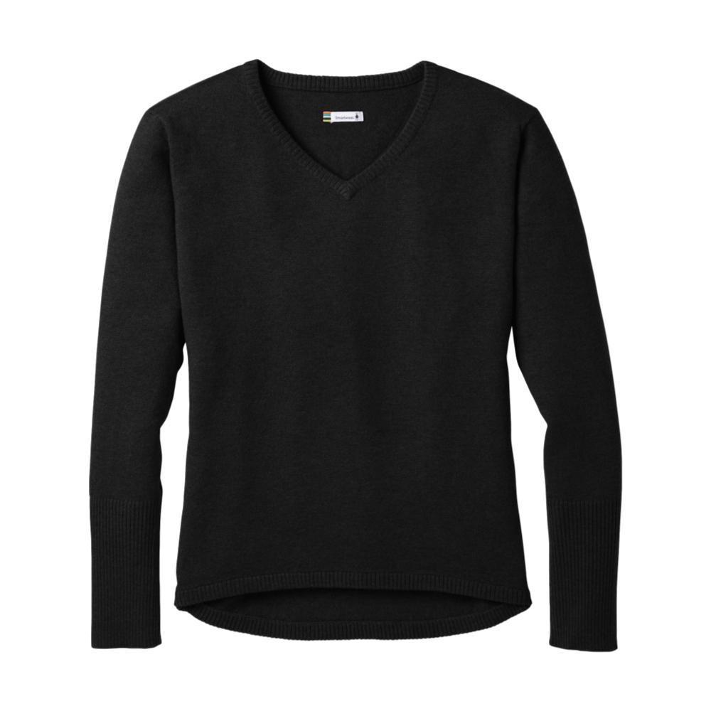 Smartwool Women's Shadow Pine V-Neck Sweater BLACK