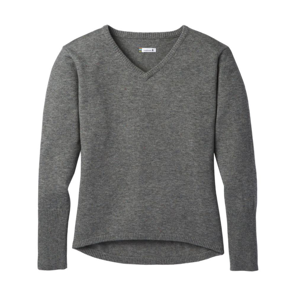 Smartwool Women's Shadow Pine V-Neck Sweater MEDGRAY