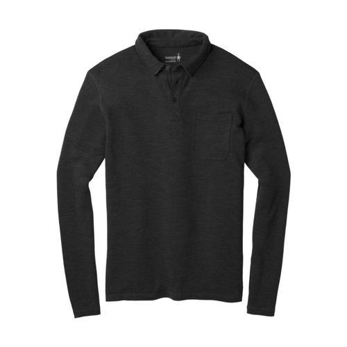Smartwool Men's Merino 250 Long Sleeve Polo Charcoal