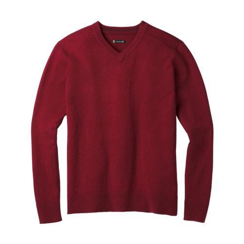 Smartwool Men's Sparwood V-Neck Sweater Tibetanred