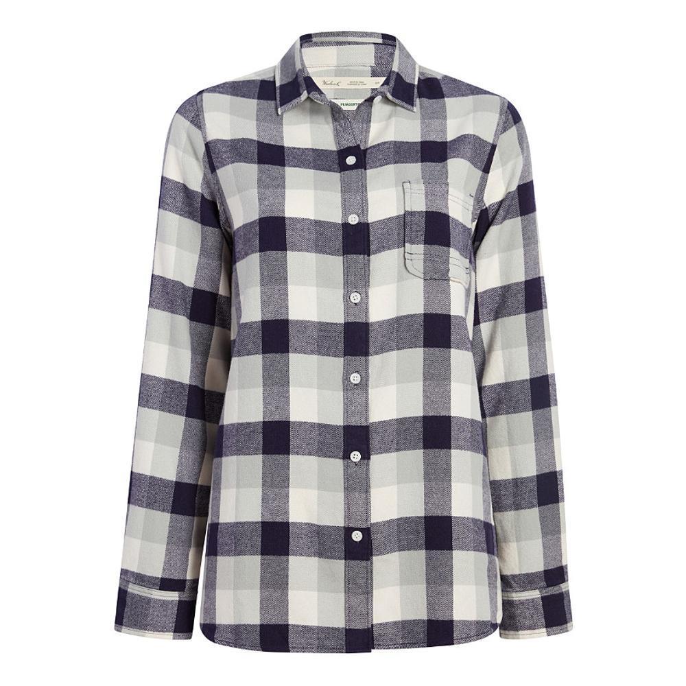 Woolrich Women's Pemberton Boyfriend Tunic Flannel Shirt OUTERSPACE
