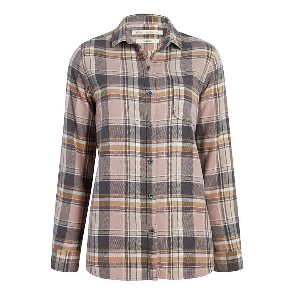 Woolrich Women's Pemberton Boyfriend Tunic Flannel Shirt VIOLETWIND