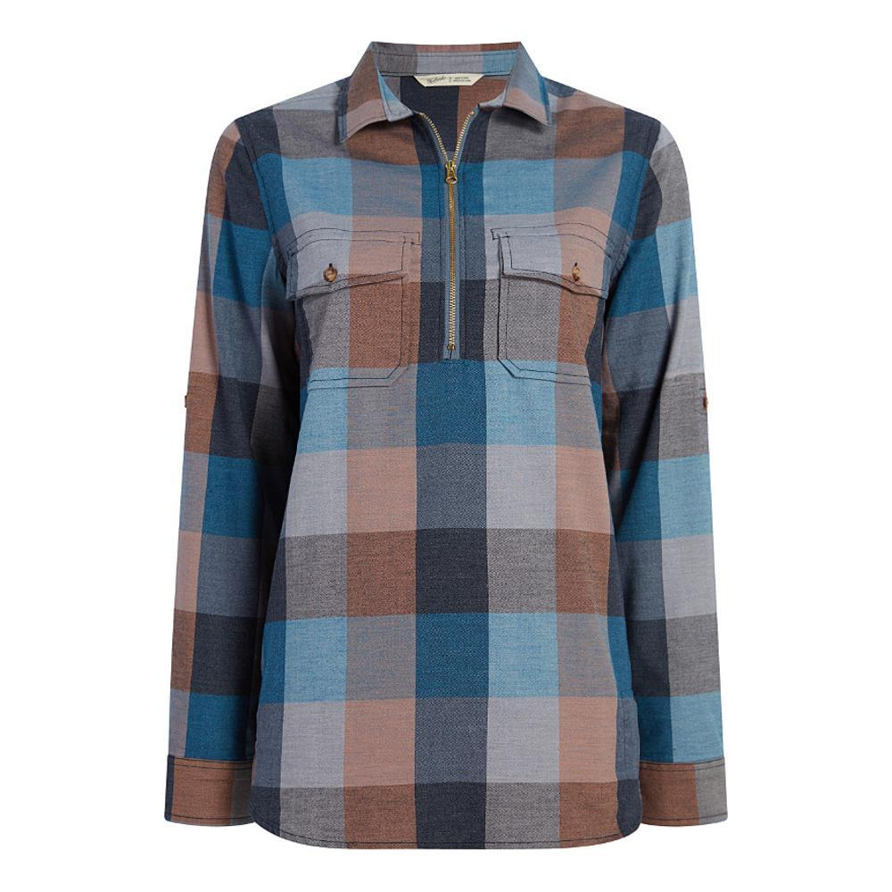 Woolrich Women's Any Point Convertible Flannel Shirt MOUNTBLUE