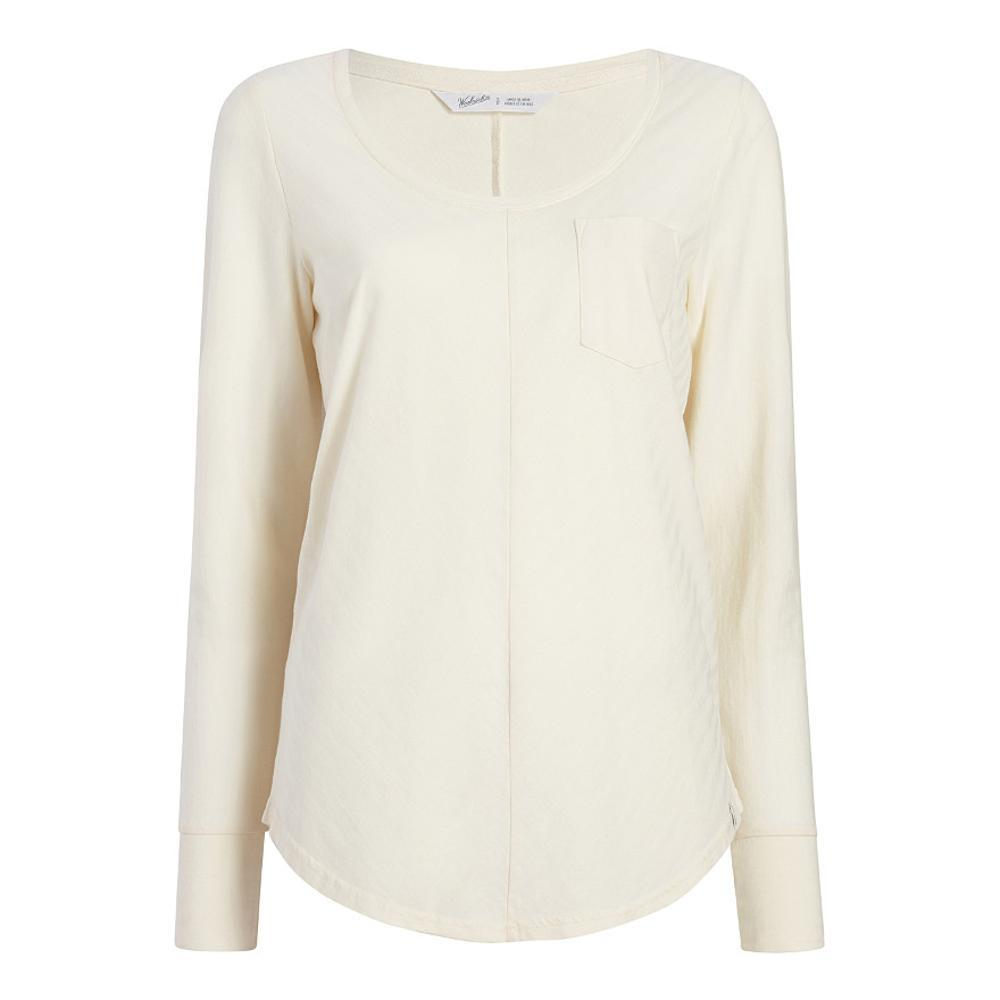 Woolrich Women's Meadow Forks Long Sleeve T-Shirt IVORY