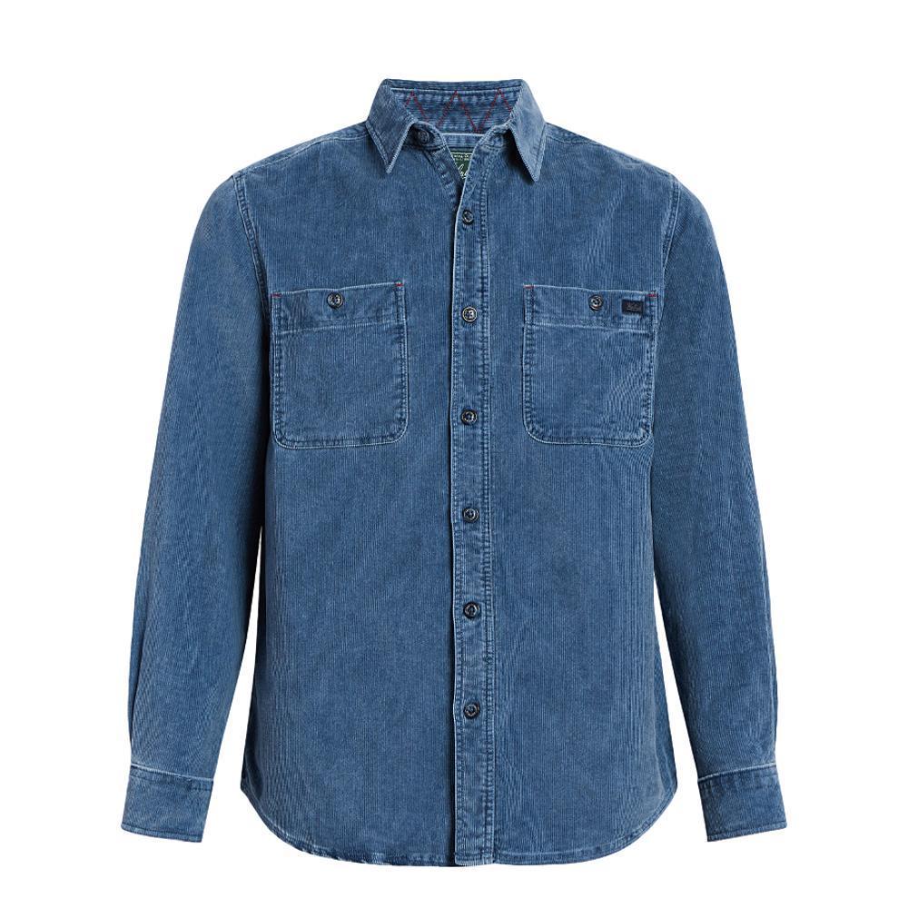 Woolrich Men's Hemlock Corduroy Shirt II BLUECHARC