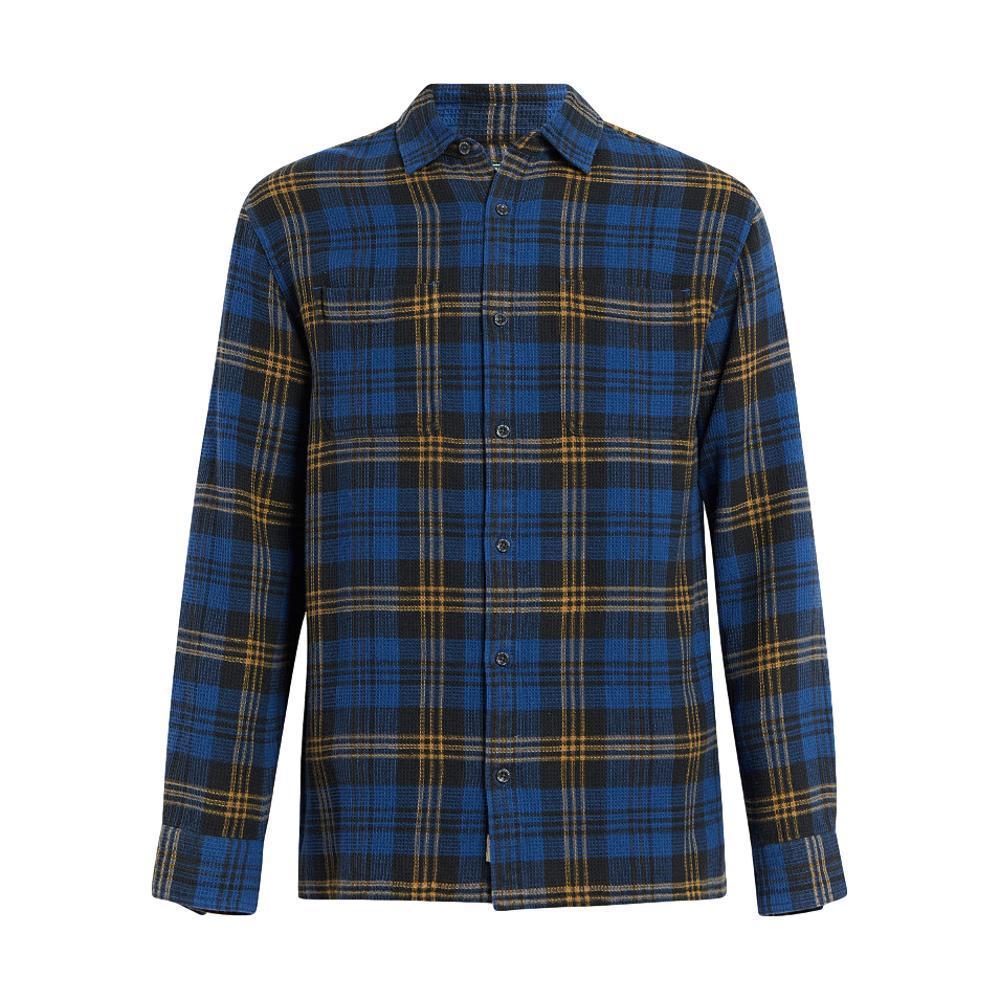 Woolrich Men's Eco Rich Dellaro Waffle Shirt ALPINEBLUE