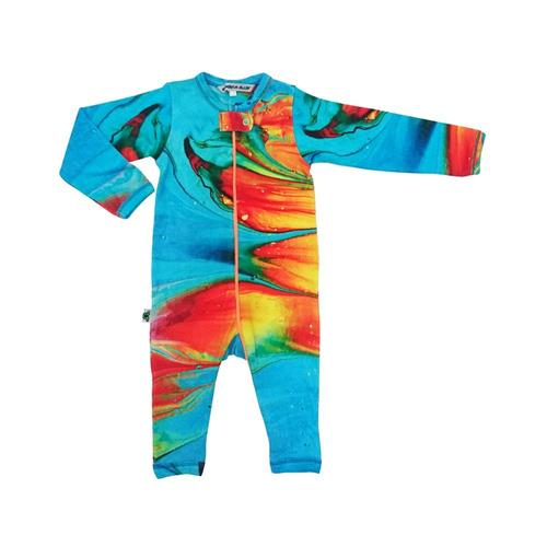 Inchworm Alley Infant Long Sleeve Romper Cayman