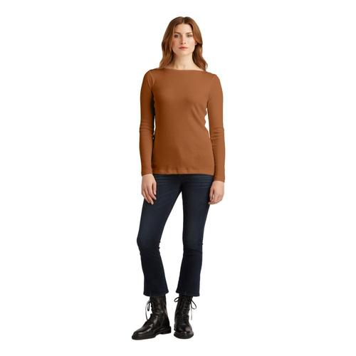 Indigenous Designs Women's Rib Boat Neck Pullover
