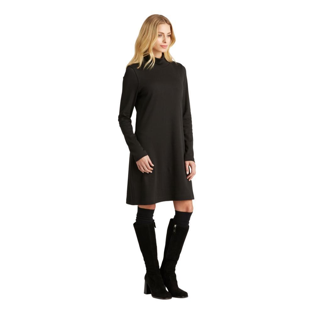 Indigenous Designs Women's Turtleneck Dress BLACK