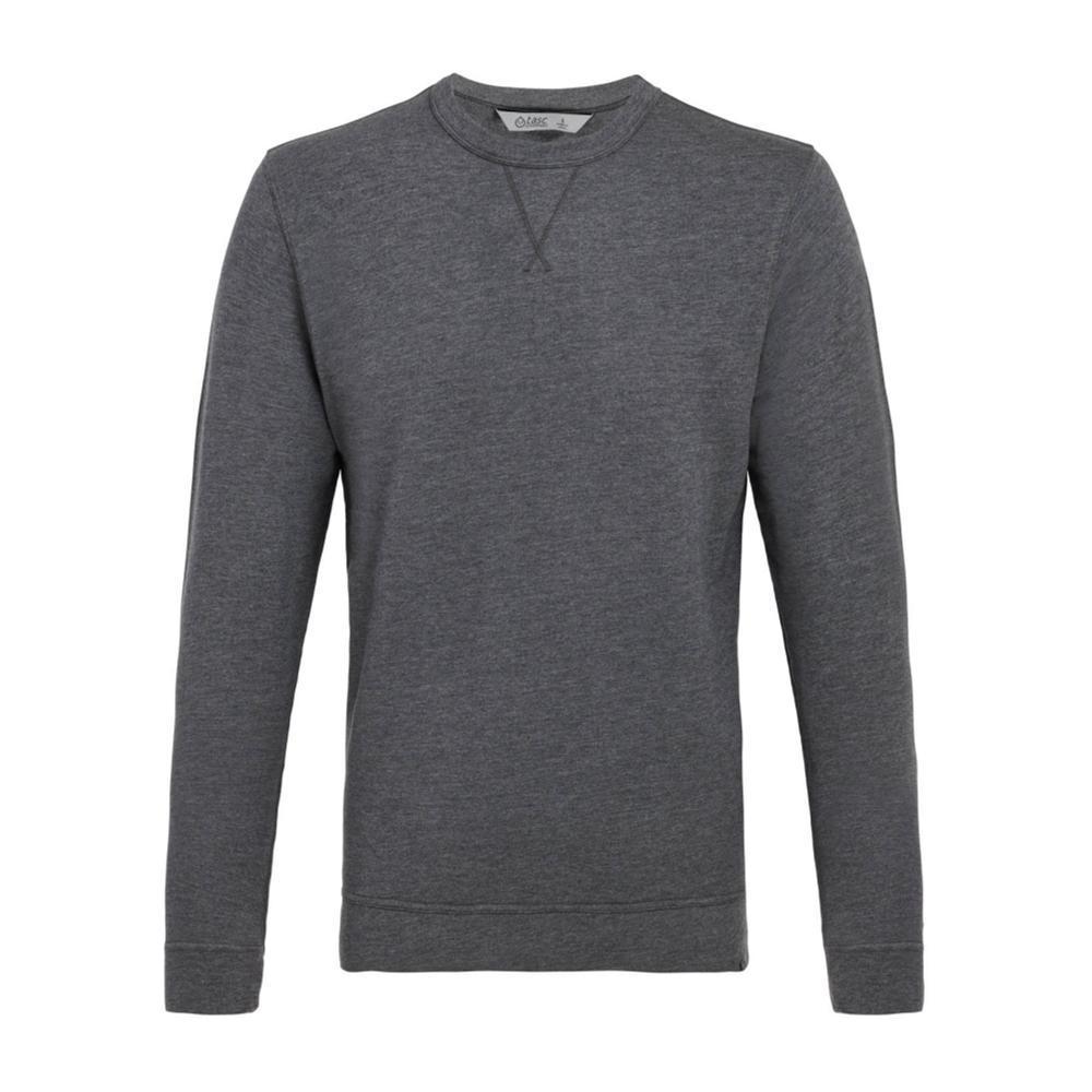 tasc Men's Legacy Crew Neck Sweatshirt BLKHTHR