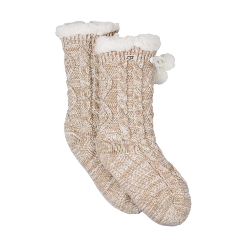 UGG Women's Pom Pom Fleece-Lined Crew Socks CREAM