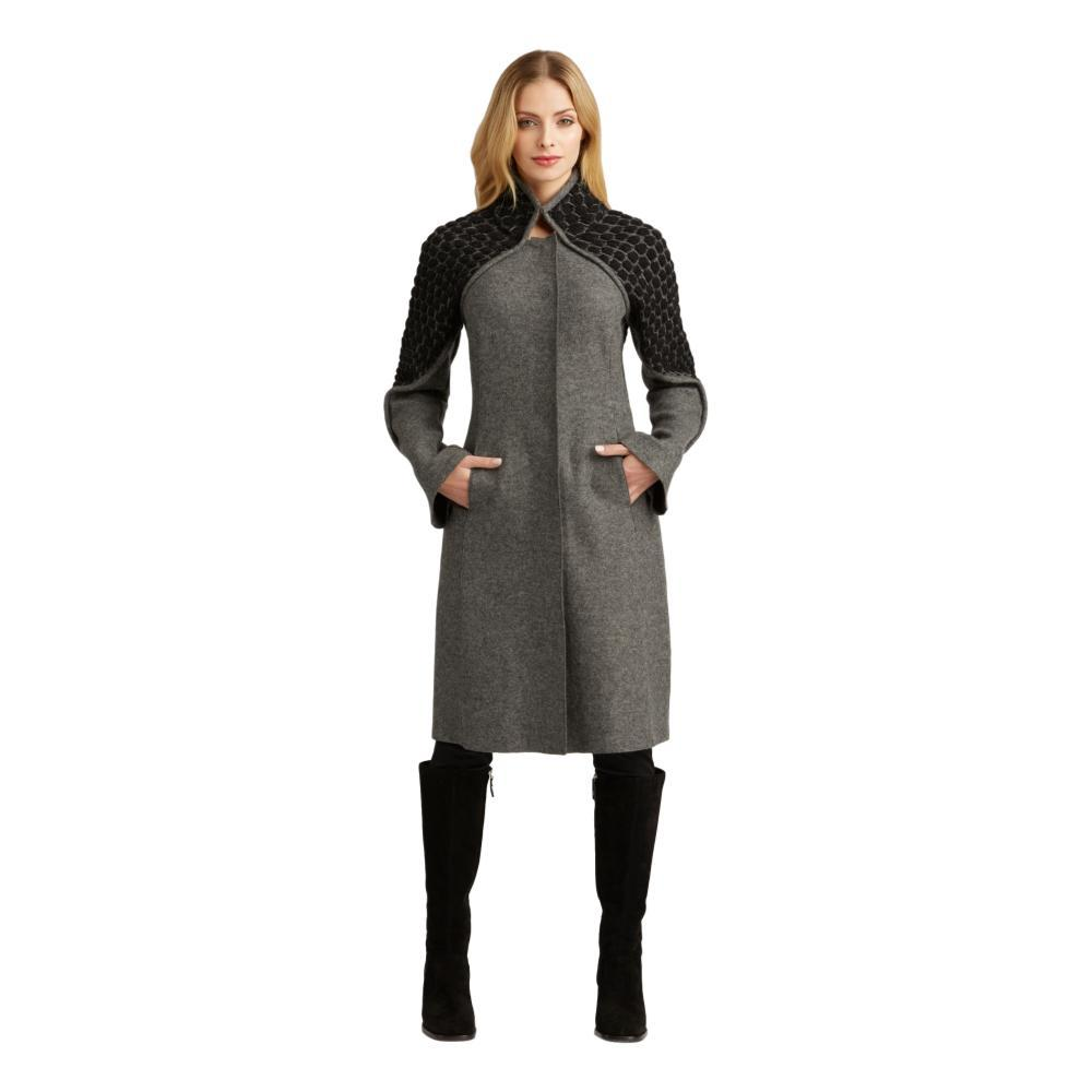 Indigenous Designs Women's Knit and Boiled Wool Coat GREYBLACK