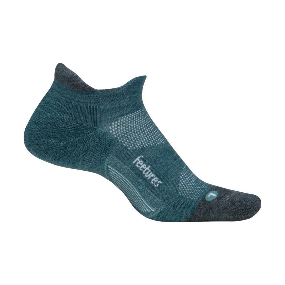 Feetures Merino 10 Cushion No-Show Socks EMERALD