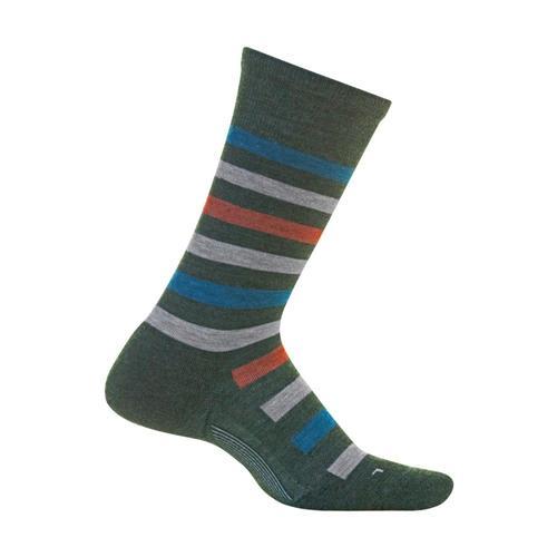 Feetures Men's Atherton Cushion Crew Socks Forestgrn