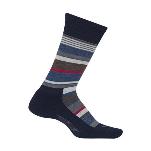 Feetures Men's Be Bold Cushion Crew Socks Navy