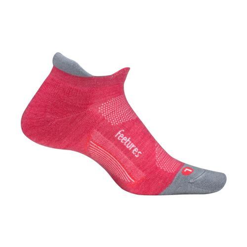 Feetures Merino 10 Ultra Light Cushion No-Show Socks Coral
