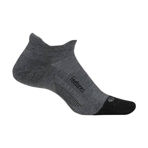 Feetures Merino 10 Ultra Light Cushion No-Show Socks Gray