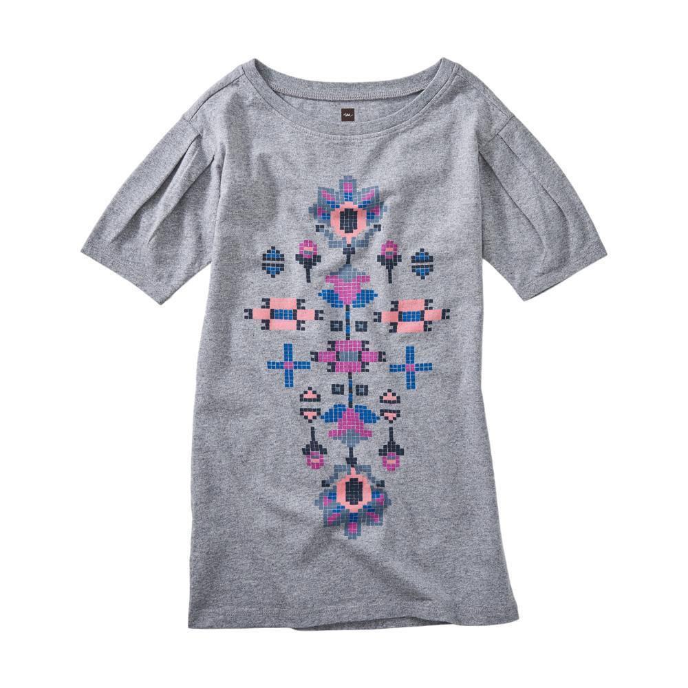 Tea Collection Girls Dakota Floral Graphic Dress GREY_FLRL