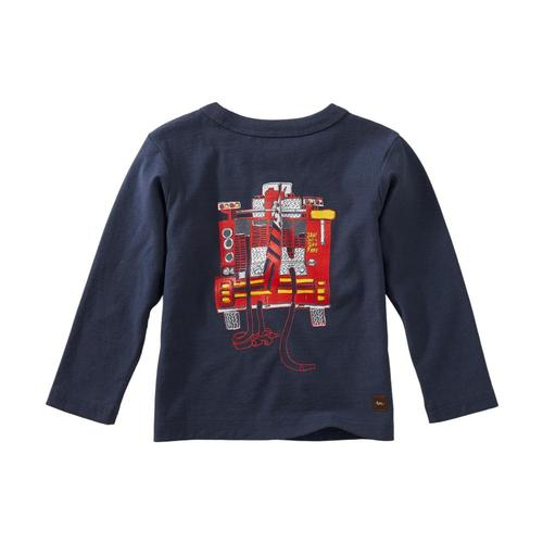 Tea Collection Infant Boys Fire Truck Graphic Tee Indigo