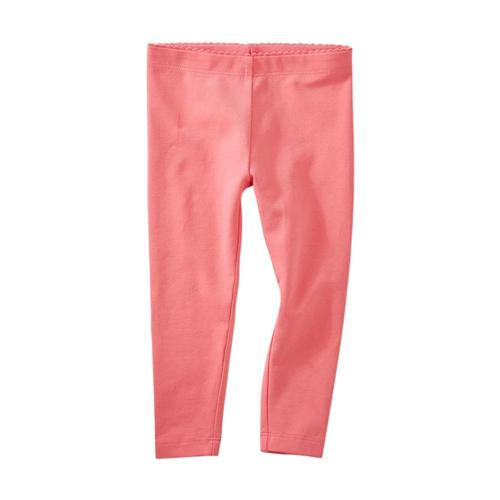 Tea Collection Infant Girls Solid Baby Leggings Grapefruit