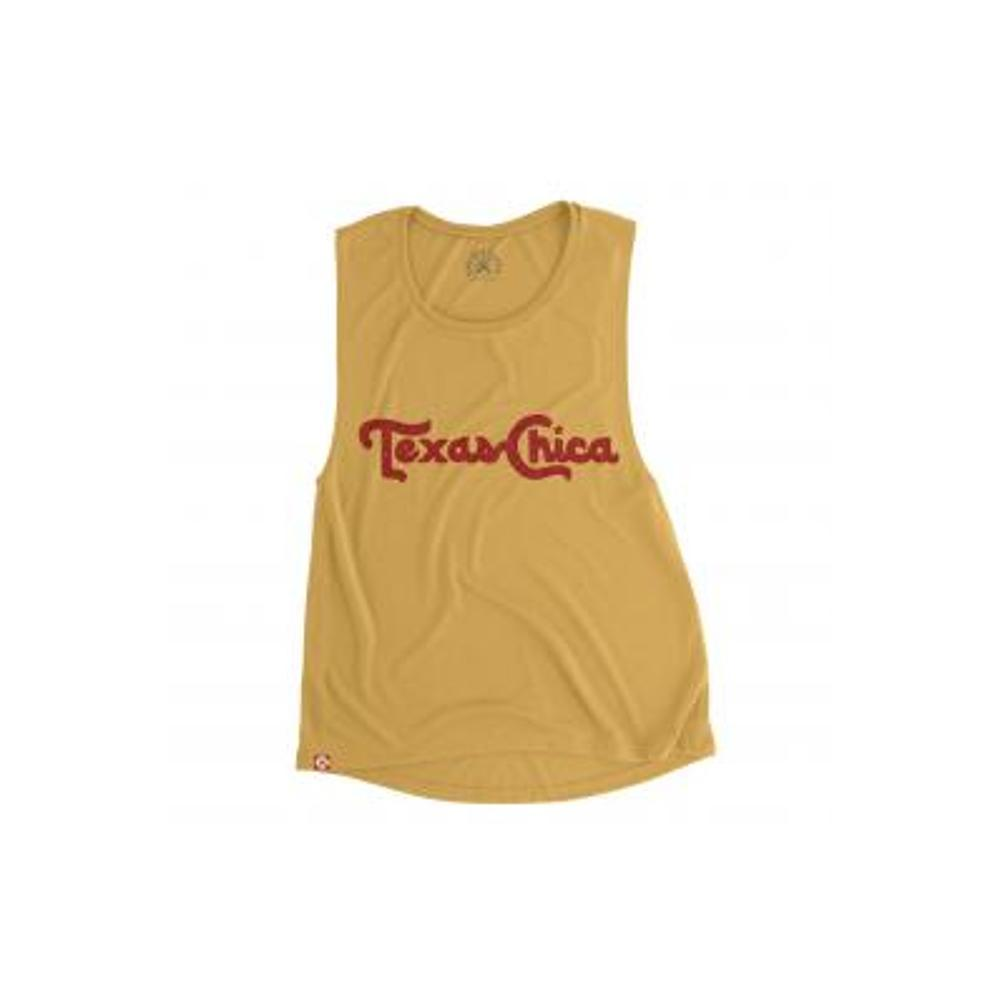 Tumbleweed TexStyles Women's Texas Chica Muscle Tank GOLD
