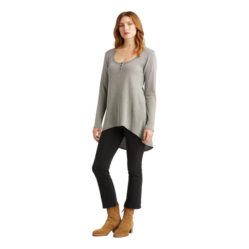 Indigenous Designs Women's Waffle Henley Tunic CHARWHITE