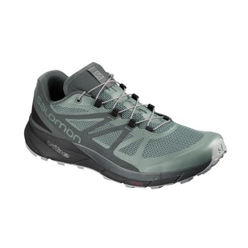 Salomon Men's SENSE RIDE GTX INVISIBLE FIT Trail Running Shoes Blsmgrn