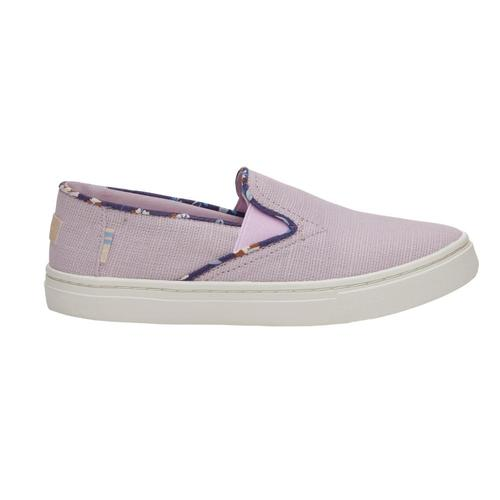 TOMS Youth Lavender Heritage Canvas Luca Slip-Ons